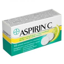 BAYER ASPIRIN C 10TBL.MUS.