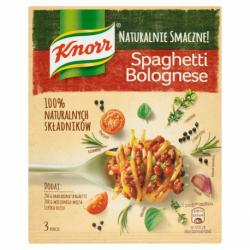 KNORR SPAGETTI BOLOGNESE...