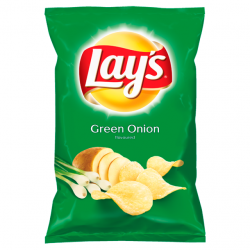 LAYS CHIPS GREEN ONION 140G