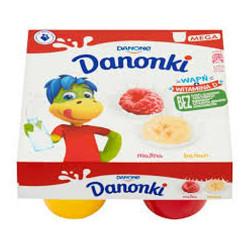 DANONE DANONKI MALINA 4X90G